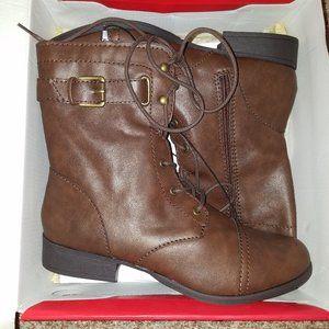 BNIB Short Mid-Calf Brown Boots